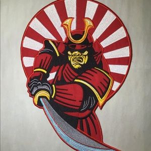 Large samurai warrior iron on patch